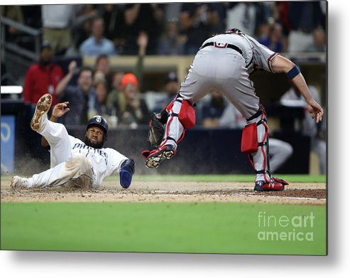 People Metal Print featuring the photograph Tyler Flowers And Manuel Margot by Sean M. Haffey