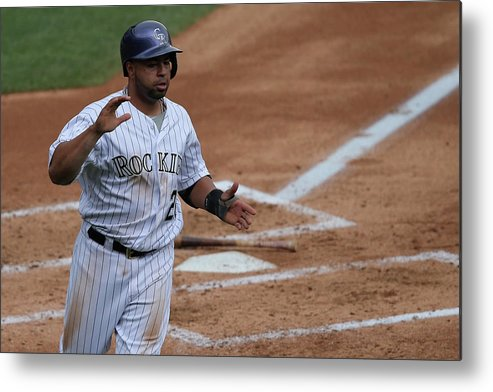 Second Inning Metal Print featuring the photograph Wilin Rosario by Doug Pensinger