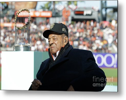 San Francisco Metal Print featuring the photograph Willie Mays by Pool