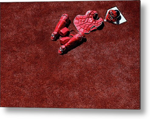 Catching Metal Print featuring the photograph Wilson Ramos by Patrick Smith