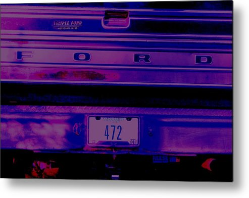 Ford Metal Print featuring the digital art 472 by Lisa Johnston
