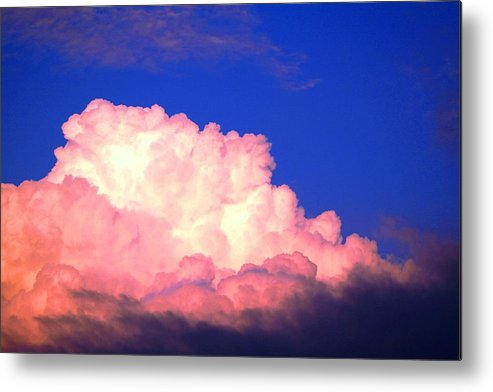 Clouds Metal Print featuring the photograph Clouds In Mystical Sky by Lisa Johnston