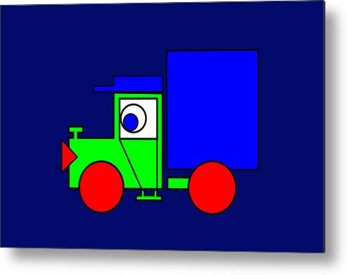 Joe The Truck Metal Print featuring the digital art Joe The Truck by Asbjorn Lonvig