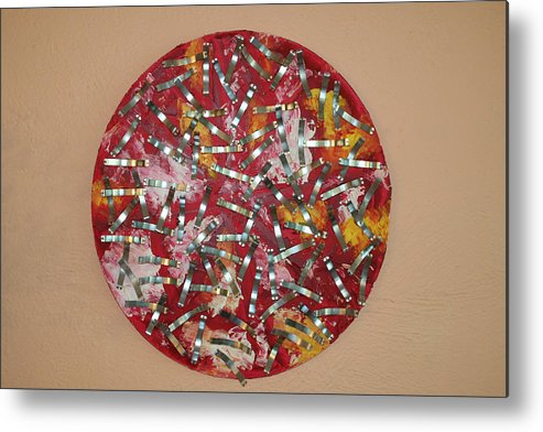 Metal Print featuring the painting Red And Metal by Biagio Civale