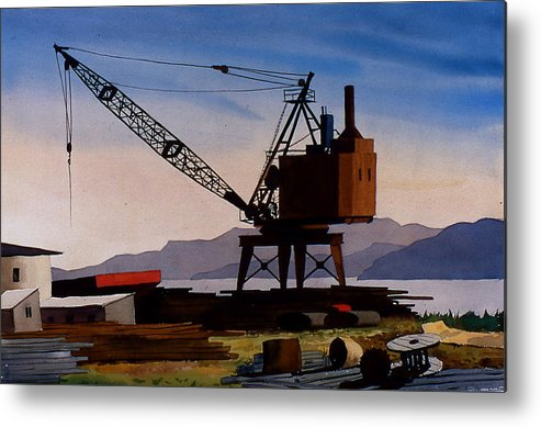 Crane Metal Print featuring the painting The Oldcrane by Faye Ziegler
