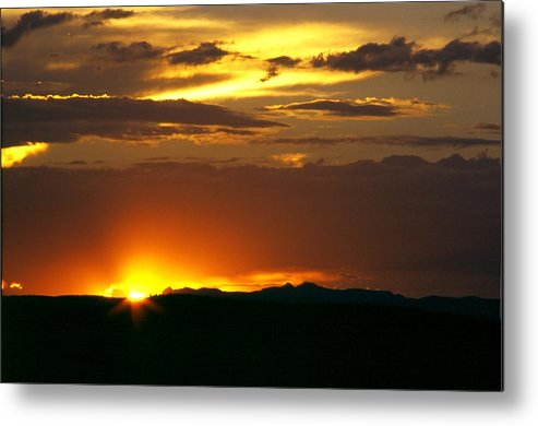 Landscape Metal Print featuring the photograph Two Peaks Sunset by Lynard Stroud