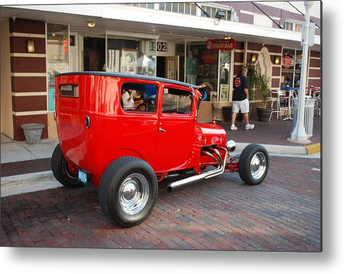 Downtown Ft.myers Metal Print featuring the photograph Classic Custom Hotrod by Robert Floyd