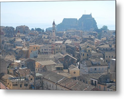 Corfu Metal Print featuring the photograph Corfu City 2 by George Katechis