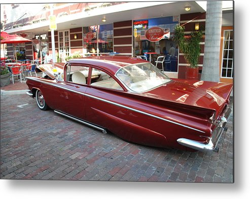 Downtown Ft.myers Metal Print featuring the photograph Custom Car by Robert Floyd