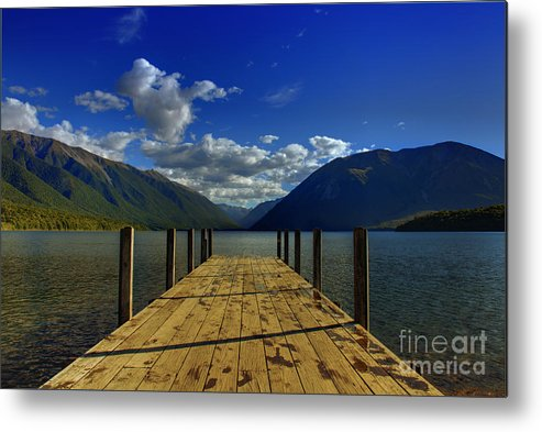 Neuseeland Metal Print featuring the photograph Lake Rotoiti by Fabian Roessler