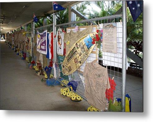Australia Queensland Qld Metal Print featuring the digital art Steve Irwin Memorial by Carol Ailles