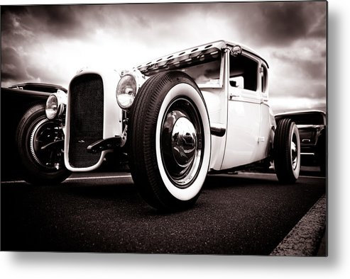 Ford Hotrod Metal Print featuring the photograph 1928 A Coupe by Phil 'motography' Clark