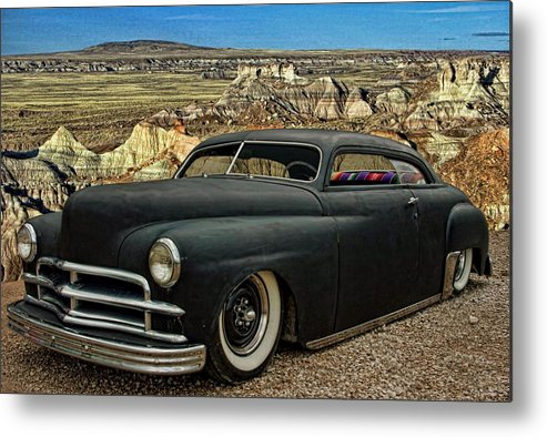 1949 Metal Print featuring the photograph 1949 Plymouth Low Rider by Tim McCullough