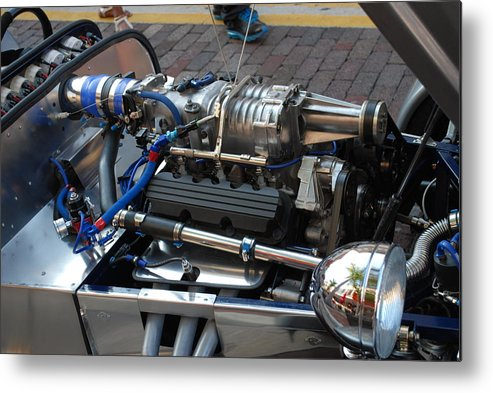 Gm3800 1962 V6 Supercharged Lotus Engine.downtown Ft.myers Metal Print featuring the photograph 1962 V6 Lotus Engine by Robert Floyd