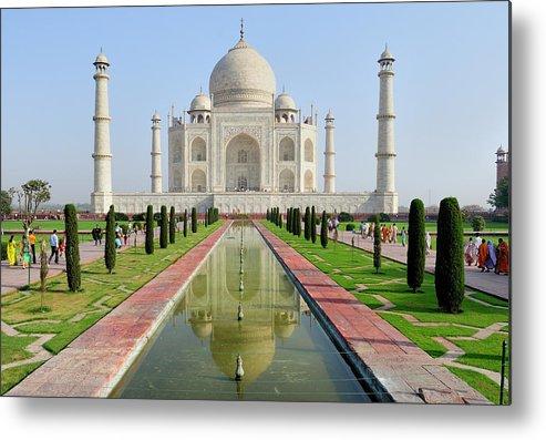 Agra Metal Print featuring the photograph Asia, India, Uttar Pradesh, Agra by Steve Roxbury