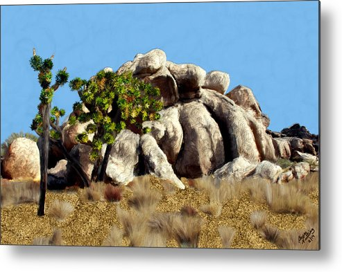 Tree Metal Print featuring the painting Joshua Tree California by Bruce Nutting