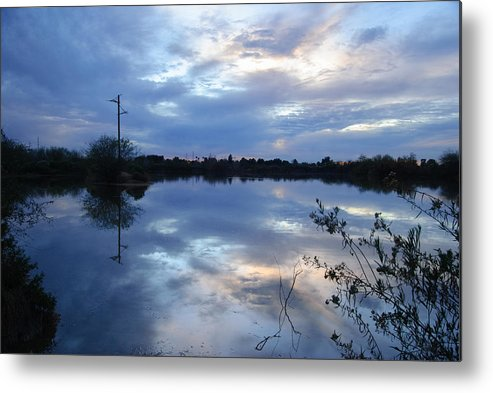 Sunset Metal Print featuring the photograph Riparian Sunset by Tam Ryan