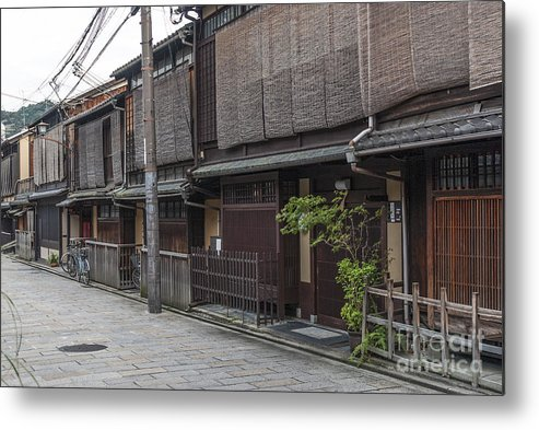 Architecture Metal Print featuring the photograph Street In Kyoto Japan by Jacek Malipan
