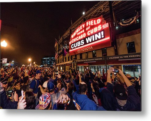 Playoffs Metal Print featuring the photograph 2016 World Series - Chicago Cubs V by Matt Kosterman