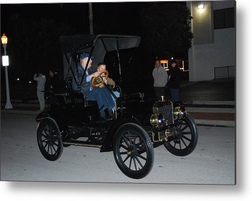 Edison Parade Of Lights Metal Print featuring the photograph Antique Car by Robert Floyd