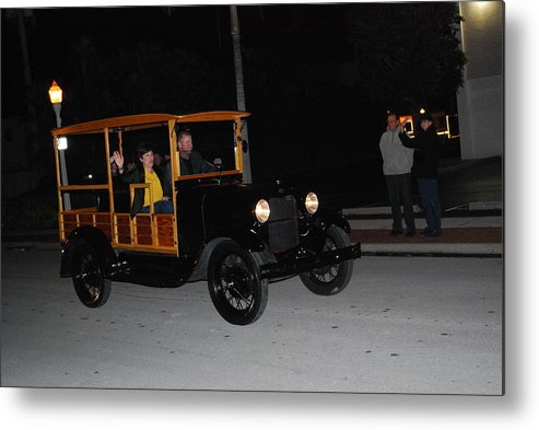Edison Parade Of Lights 2013 Metal Print featuring the photograph Antique Truck by Robert Floyd