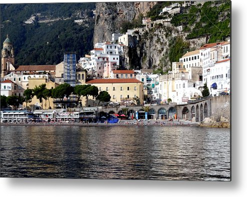 Amalfi Coast Metal Print featuring the photograph Views From The Amalfi Coast In Italy by Richard Rosenshein