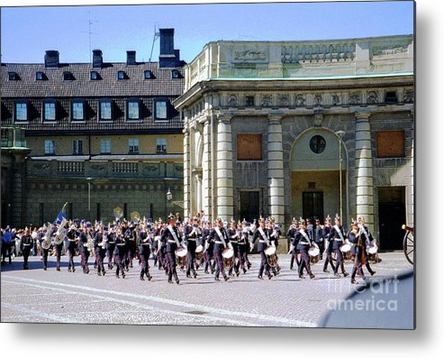 Sweden Metal Print featuring the photograph Stockholm Guard Change by Ted Pollard