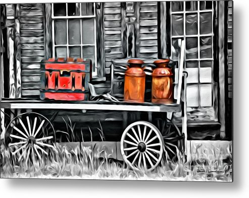 Wagon Metal Print featuring the photograph 9182 by Charles Cunningham