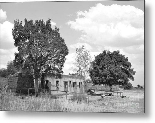 Abandoned Horse Stable Metal Print featuring the photograph Abondoned Horse Stable by Herman Cloete