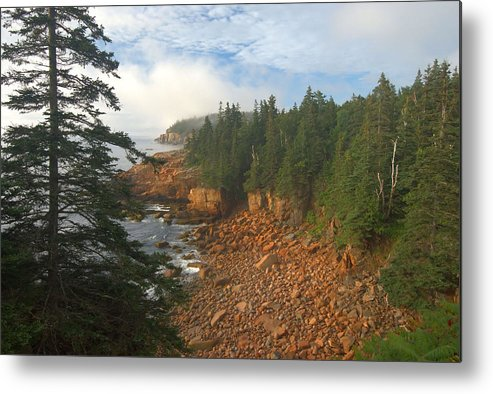 Main Metal Print featuring the photograph Acadia Coastline by Stephen Vecchiotti
