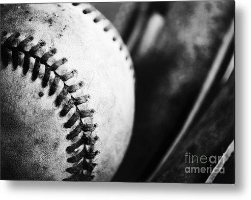 Baseball Metal Print featuring the photograph America's Pastime by Rachel Barrett