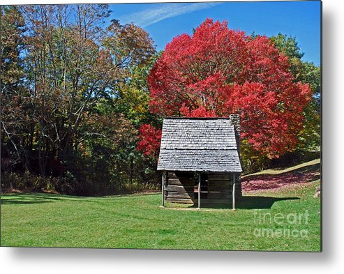 Scenic Tours Metal Print featuring the photograph Autum For A Mountain Home by Skip Willits