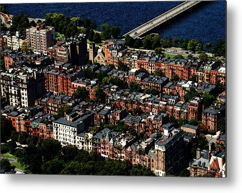 Boston Metal Print featuring the photograph Back Bay by Charlie and Norma Brock