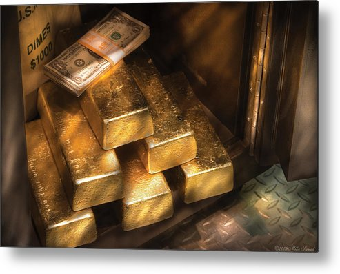 Savad Metal Print featuring the photograph Banker - My Precious by Mike Savad