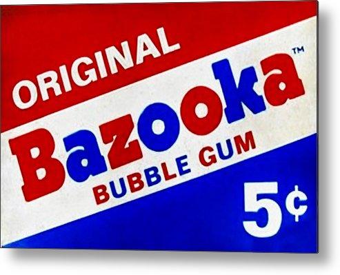 Bazooka Metal Print featuring the photograph Bazooka Bubble Gum by Rob Hans