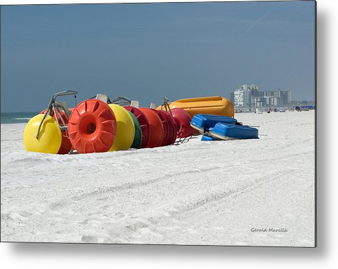 Bikes Metal Print featuring the photograph Beach Toys by Gerald Marella