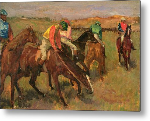 Before The Races Metal Print featuring the painting Before The Races by Edgar Degas