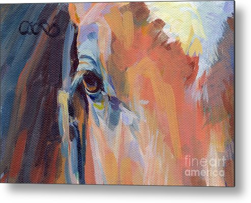 Thoroughbred Metal Print featuring the painting Billy by Kimberly Santini