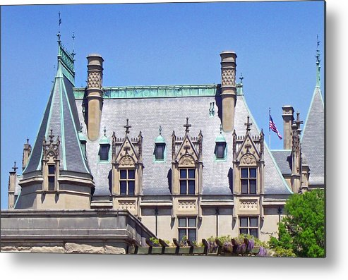 Biltmore Metal Print featuring the photograph Biltmore House Roof by Duane McCullough