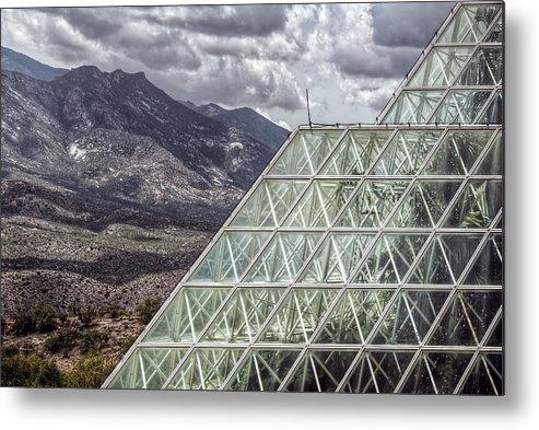 Biosphere Metal Print featuring the photograph Biosphere by Heath Yonaites