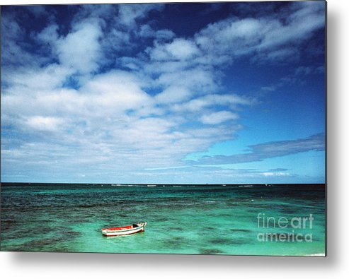 Hawaii Metal Print featuring the photograph Boat And Sea by Thomas R Fletcher