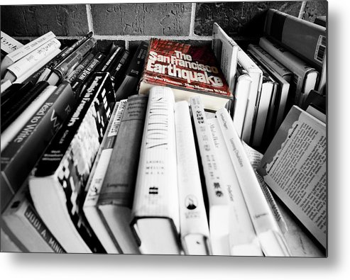 Minneapolis Metal Print featuring the digital art Book Store Sales Bin by Susan Stone