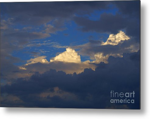 Clouds Metal Print featuring the photograph Break In The Clouds by Robert Edgar