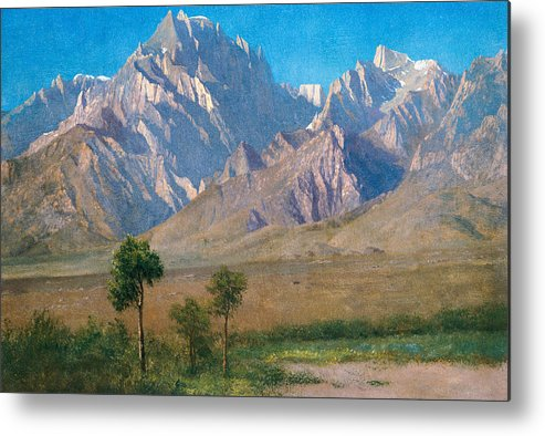American Landscape Metal Print featuring the painting Camp Independence Colorado by Albert Bierstadt