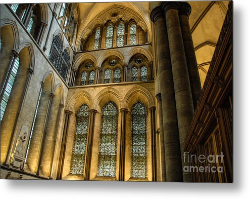 Wells Metal Print featuring the photograph Cathedral Walls And Windows by Ken Andersen