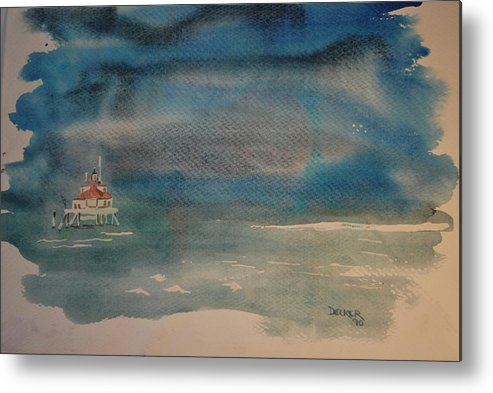 Chesapeake Bay Metal Print featuring the painting Cblighthouse2 by DC Decker