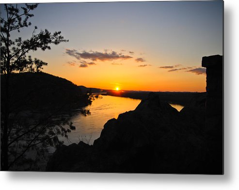 Metal Print featuring the photograph Chickies Rock Sunset 7 by Becky Anders