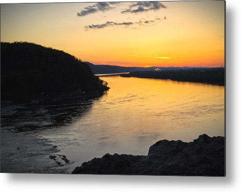 Metal Print featuring the photograph Chickies Rock Sunset 9 by Becky Anders