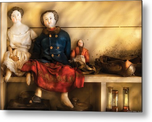 Savad Metal Print featuring the photograph Children - Toys - Assorted Dolls by Mike Savad