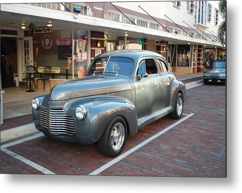 Downtown Ft.myers Fl. Metal Print featuring the photograph Classic Custom Coup by Robert Floyd